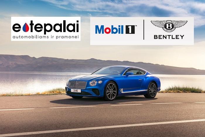 Mobil 1 ir Bentley gamyklinė partnerystė