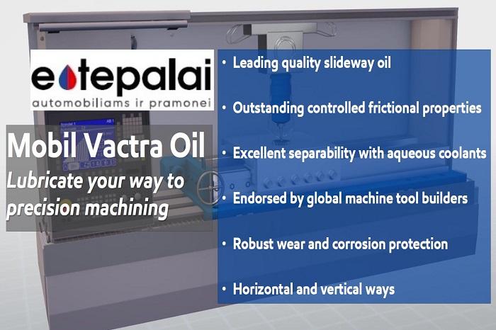 Mobil Vactra Oil staklių kreipiančiųjų ir pavažų alyvos